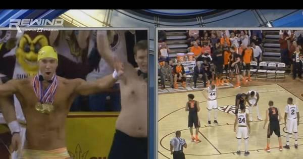 De sunga, Phelps rouba cena como torcedor de time de basquete ...