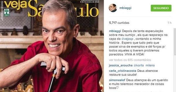 Marco Antônio de Biaggi reaparece em capa de revista após passar ...