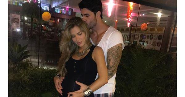 Grávida de nove meses, Adriana Sant'Anna recebe carinho de ...