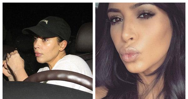 Kim Kardashian surpreende ao aparecer sem maquiagem em visita ...