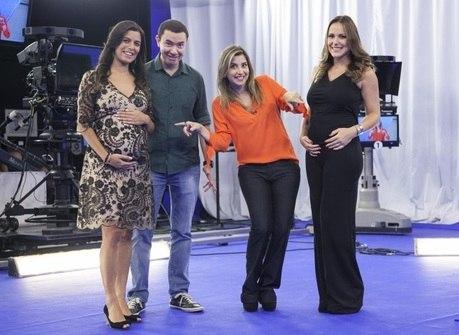 Coincidência: apresentadoras<br />do programa estão grávidas