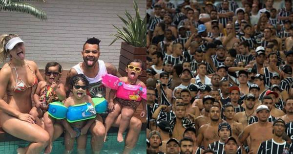 Família de Dentinho em dia de piscina e Corinthians fora do top 10 ...