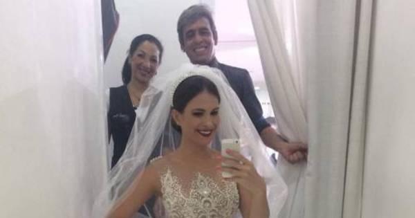 Kamilla Salgado publica foto com vestido de noiva em rede social ...