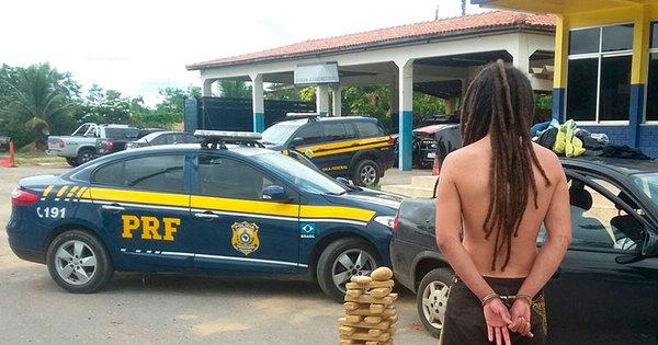 Após fugir de abordagem, motorista é preso com quase 60 kg de ...