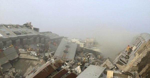 Duas pessoas morrem em desabamento de prédio em Taiwan após ...