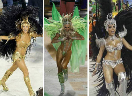 Veja quais famosas brilharam na Marquês de Sapucaí, no Rio