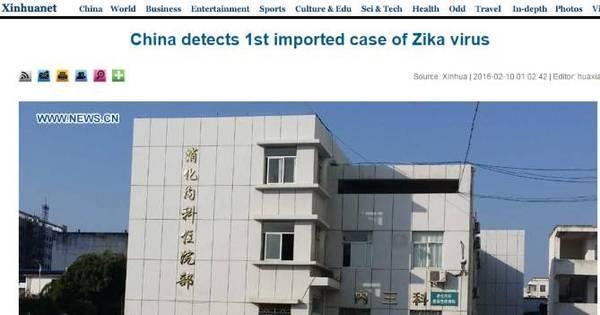 China confirma primeiro caso de zika vírus em homem que viajou à ...