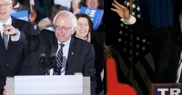 Sanders vence Hillary pelo partido democrata e Trump conquista o ...