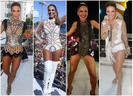 Confira os looks das beldades que arrastaram multidões no Carnaval