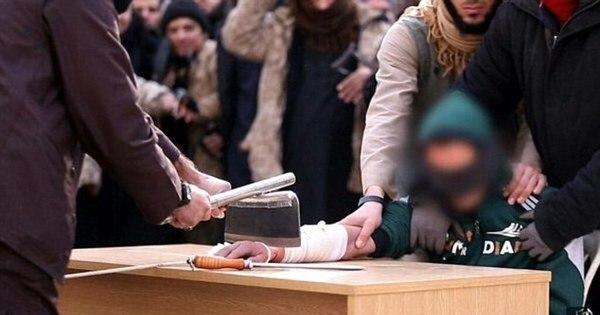 Tribunal terrorista: soldados do Estado Islâmico decepam mão de ...