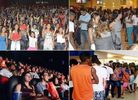 Público mantém salas de cinema lotadas em sessões do longa