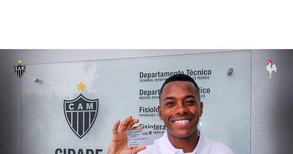 """Robinho manda mensagem para torcida do Atlético-MG: """"Aqui é ..."""