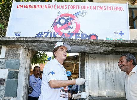 Dilma mobiliza ministros e rivais em mutirão contra mosquito