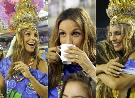 Ivete Sangalo festeja com a Mangueira e agita a Sapucaí