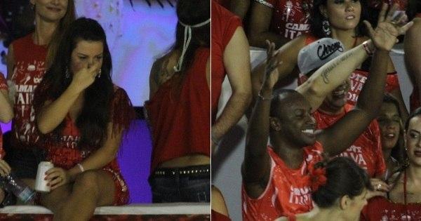 Fernanda Souza fica de olho em Thiaguinho em camarote no Rio ...