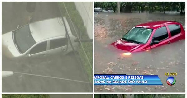 Chuva deixa pessoas ilhadas e provoca alagamentos na Grande ...