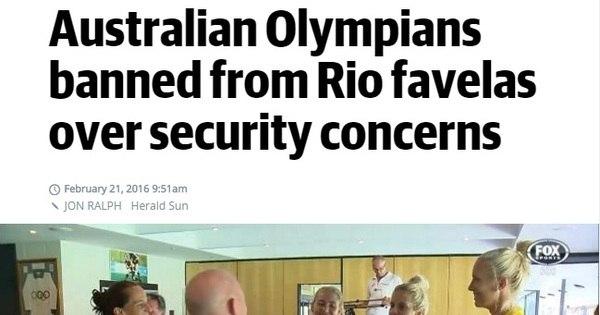 Atletas australianos são proibidos de visitar favelas do Rio durante ...