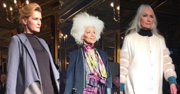 Beleza não tem idade! Desfile em Londres leva à passarela apenas ...