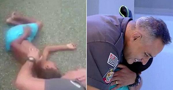 Menino atropelado reencontra de surpresa policial que se deitou no ...