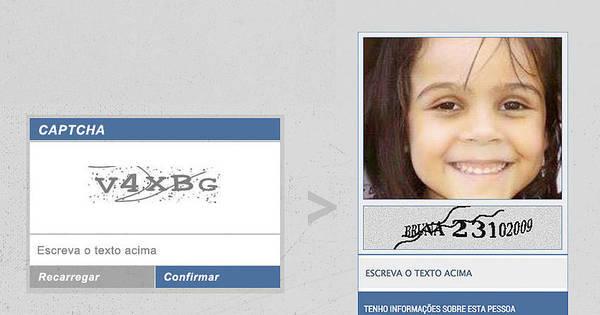 Projeto espalha fotos de desaparecidos nas janelas antispam da web