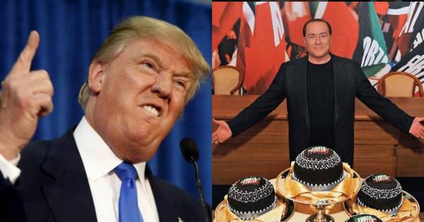 Sempre polêmicos, Donald Trump e Silvio Berlusconi têm muita ...