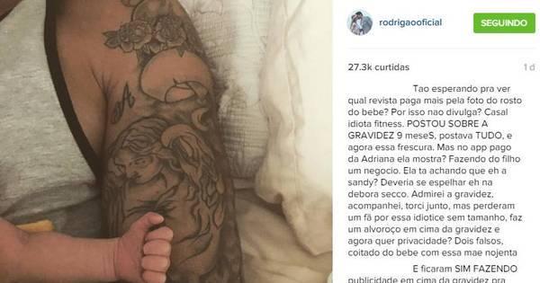 Ex- BBB Rodrigão é criticado por fãs em esconder rosto do filho ...