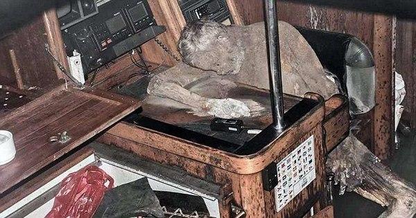 Corpo mumificado é encontrado por pescadores no interior de iate
