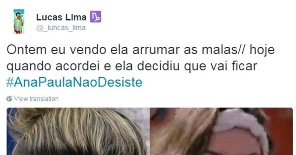 Ana Paula ameaça sair do BBB e a galera da internet se desespera ...
