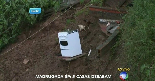 Cinco casas desabam em Guarulhos após fortes chuvas - Notícias ...