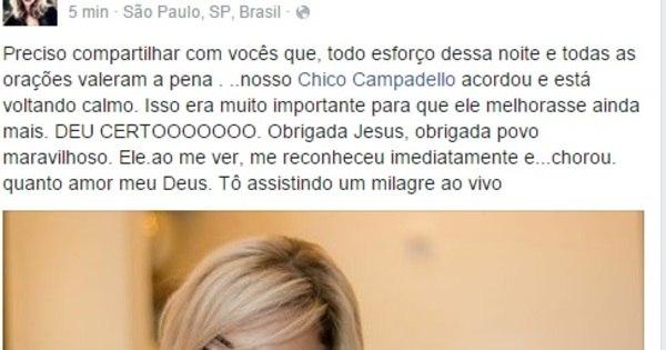 """""""Chico acordou e está voltando calmo"""", diz Léo Áquilla ..."""