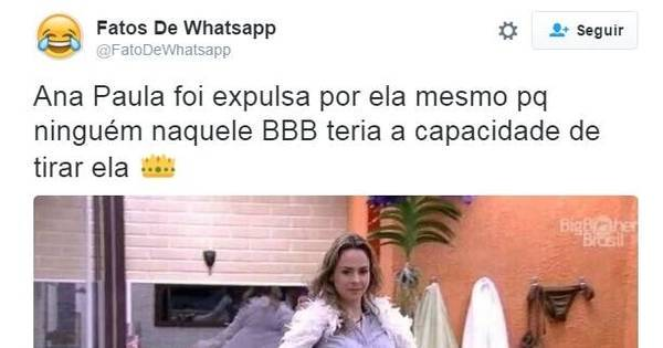 Ana Paula é expulsa do BBB e internet fica de luto - Fotos - R7 Pop