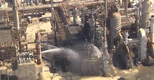 Pivô da Lava Jato, refinaria de Pasadena pega fogo - Notícias - R7 ...