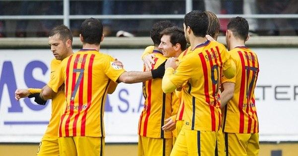 Messi marca dois e Barça goleia mesmo sem Neymar - Esportes ...