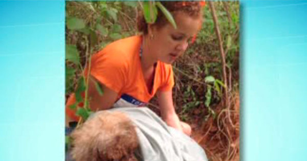 diz mulher sobre resgate de cadela que teve olhos arrancados