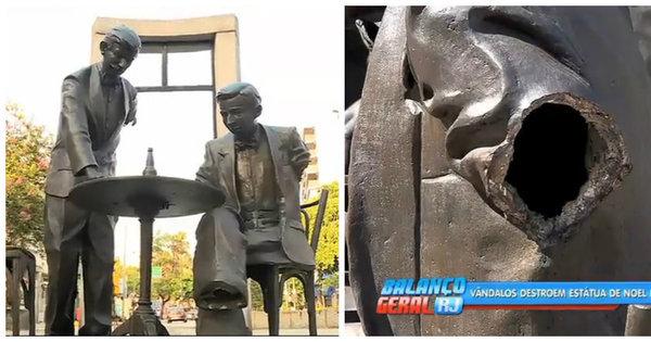 Estátua de Noel Rosa permanece sem reparos 3 meses depois de ...