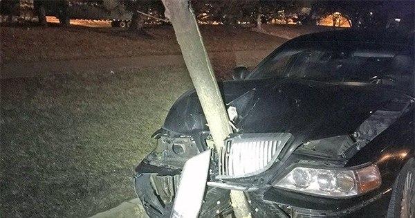 Motorista embriagada bate em árvore e dirige com tronco de 4,5 ...