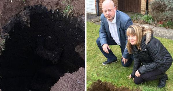 Mistério: buraco sinistro com escada pro além surge em jardim e ...
