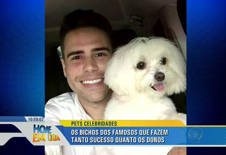 O Toy, filhinho de quatro patas de Luiz Bacci, tem três anos e faz muito sucesso nas redes sociais desde que chegou na casa do apresentador.—Já até reconheceram ele sem estar comigo [risos]