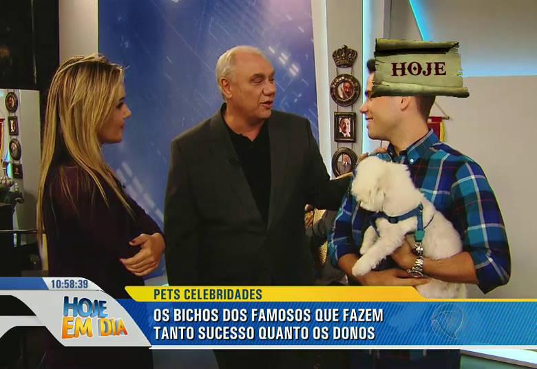 Um dos responsáveis pela fama do cãozinho é o apresentador Marcelo Rezende, que fica todo feliz sempre que encontra a dupla• IMPRESSIONANTE! Cachorro é resgatado de lago congelado depois de ficar cinco dias ilhado. Clique e assista!