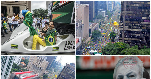 Milhares se reúnem na Paulista em ato contra o governo - Fotos ...