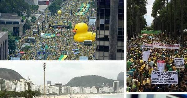 Manifestações contra corrupção levam milhões às ruas de todo o ...