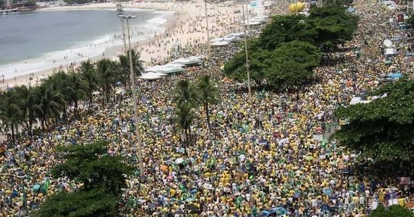 Rio: protesto contra o governo reúne 100 mil manifestantes em ...