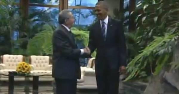 """""""A mudança vai acontecer aqui"""": Obama se encontra com Raúl ..."""