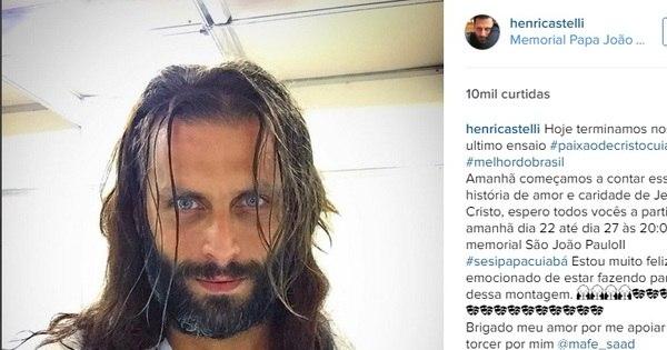 Henri Castelli será Jesus no espetáculo Paixão de Cristo; veja foto ...