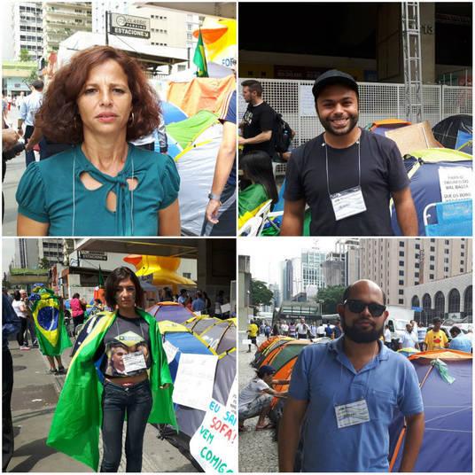 Muitos dos manifestantes acampados em frente ao prédio da Fiesp, na avenida Paulista, deixaram o emprego, a família e os estudos para 'lutar pelo País'.São pessoas com pensamentos diferentes, mas com um objetivo em comum: derrubar o governo de Dilma Rousseff.Veja algumas histórias de manifestantes que acreditam que suas ações vão mudar o País