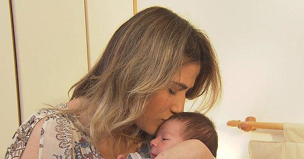 Filha de Leonardo mostra pela primeira vez na TV o pequeno Noah ...