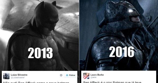Desde 2013, Ben Affleck divide opiniões como novo Batman ...