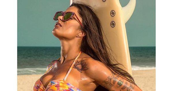 Seguidores criticam foto de Aline Riscado em campanha de moda ...