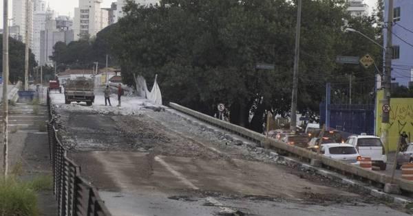Viaduto Santo Amaro continua em obras após acidente entre ...