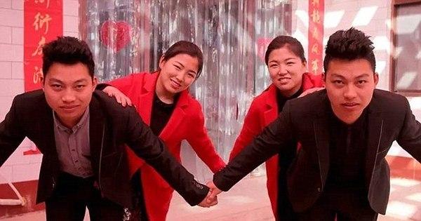 Quem é quem? Gêmeas se casam com irmãos idênticos e decidem ...
